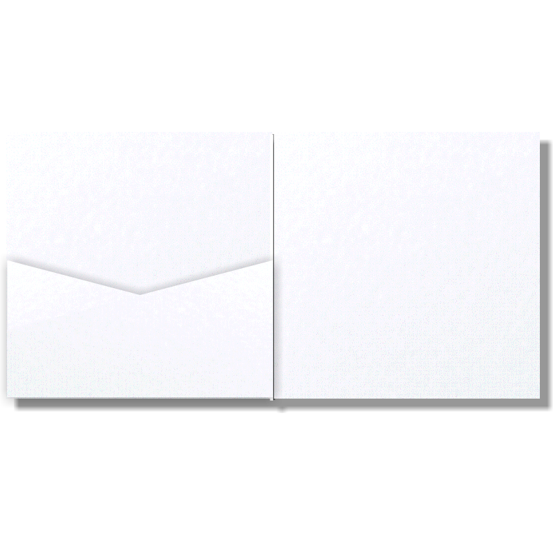 VCut Pocket Invitation Antique White Mist Sq 25Pk