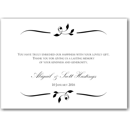 Budget Wedding Invitations Thank You Cards Calista
