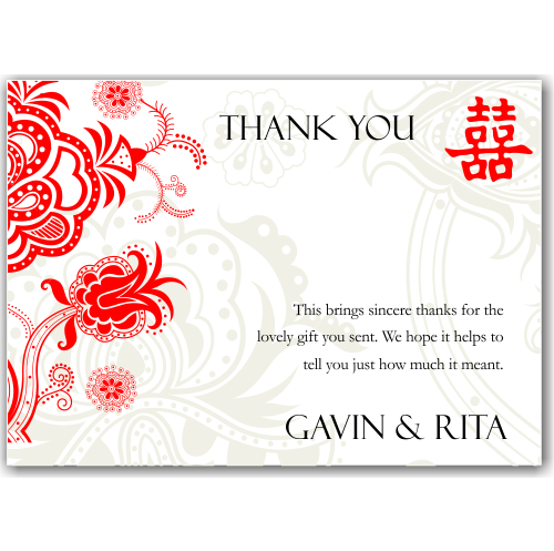 Budget Wedding Invitations Thank You Cards Double Happiness