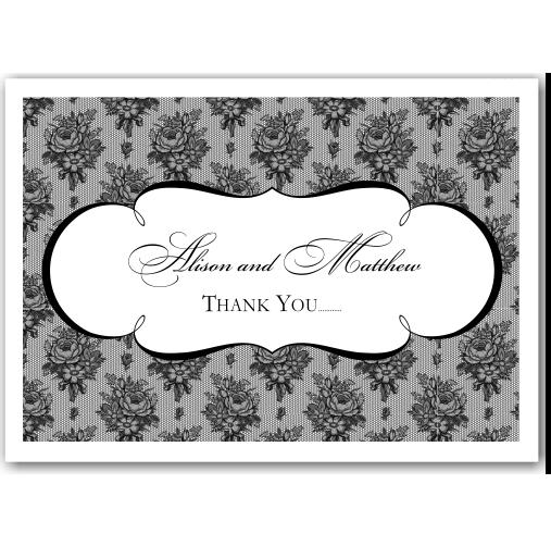 French Classic Wedding Thank You Card 10Pk inc envelopes