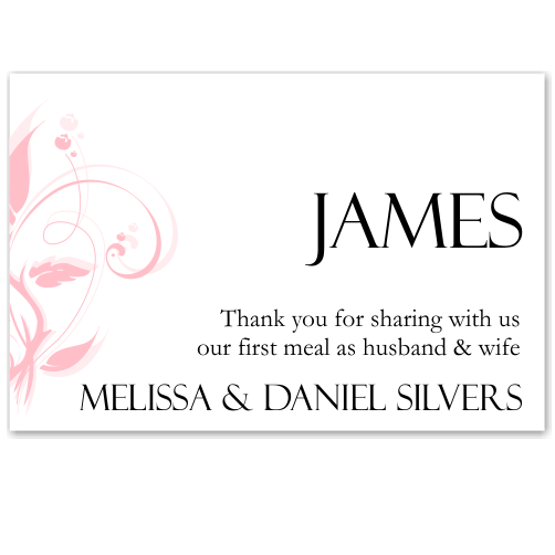 Modern Classic Pink Wedding Place Card 10Pk