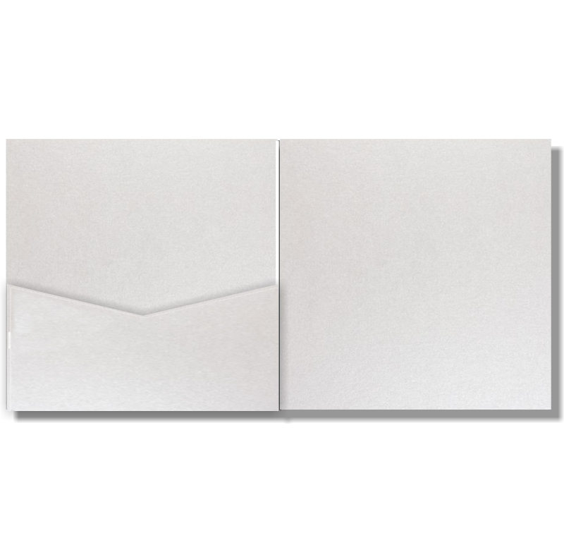 V-Cut Pocket Invitation Stardream Crystal Sq 20Pk