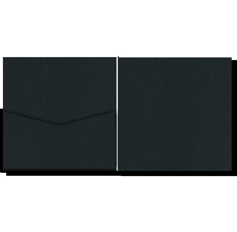 V-Cut Pocket Invitation Stardream Onyx Sq 20Pk