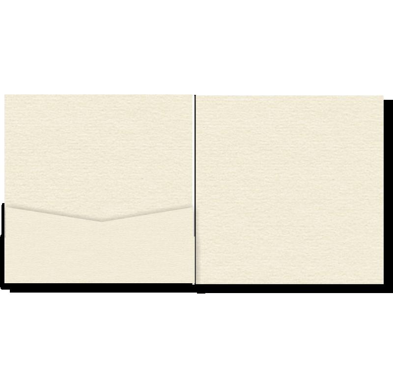 V-Cut Pocket Invitation Stardream Opal Sq 20Pk