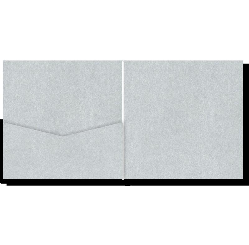 V-Cut Pocket Invitation Stardream Silver Sq 20Pk