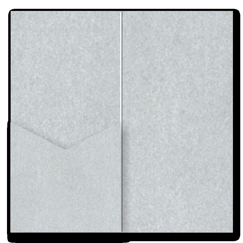 V-Cut Pocket Invitation Stardream Silver DL 20Pk