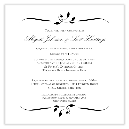 budget wedding invitations template invitation wedding calista