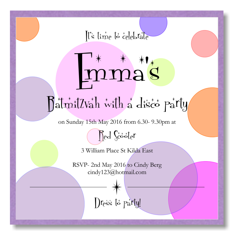 Budget Wedding Invitations Template Bat Mitzvah Disco Dots - Disco party invites templates free