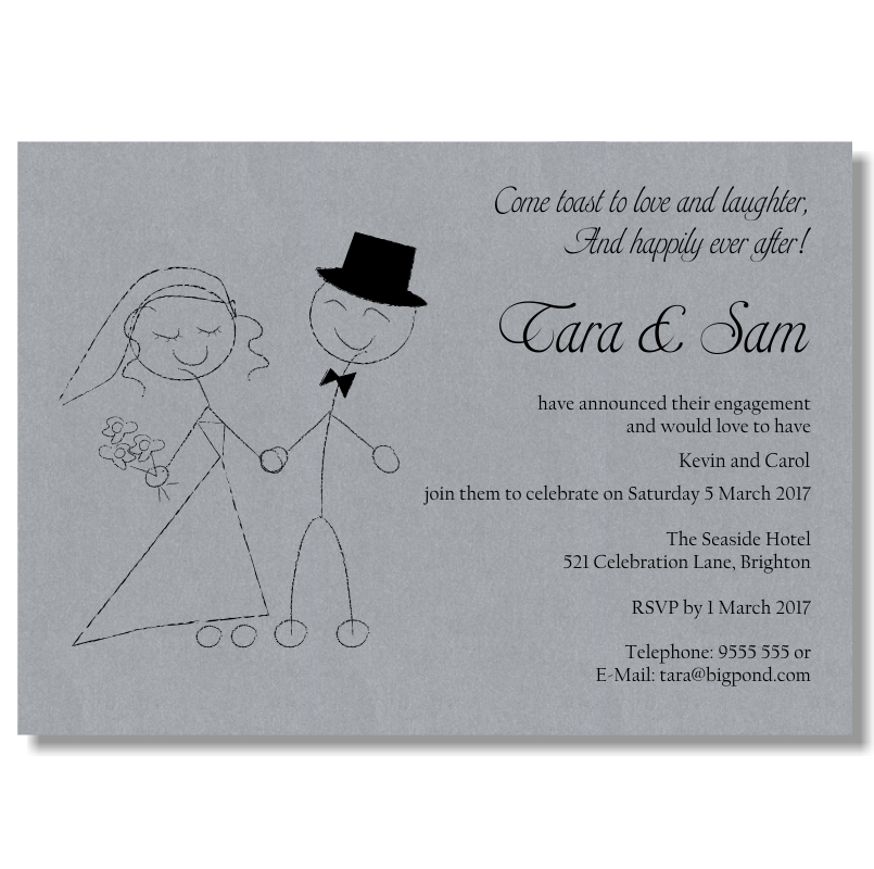 Budget Wedding Invitations Template Engagement Love Laughter ...