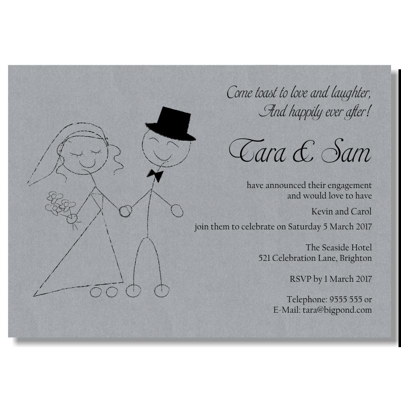Betrothal Invitation Card Format. Download Fonts Affiliate Program