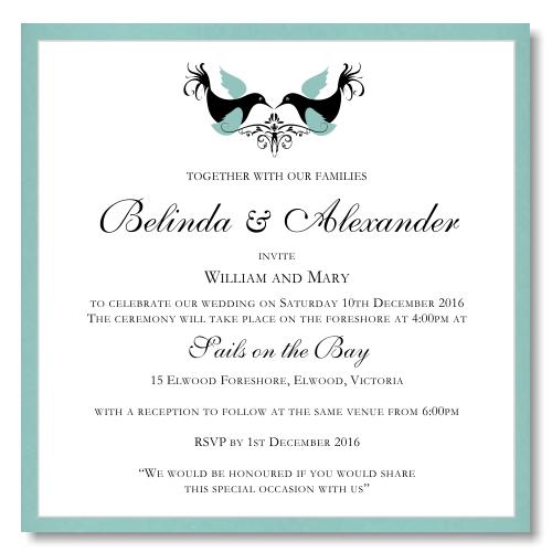 love birds wedding invitation template picture - Wedding Invite Template