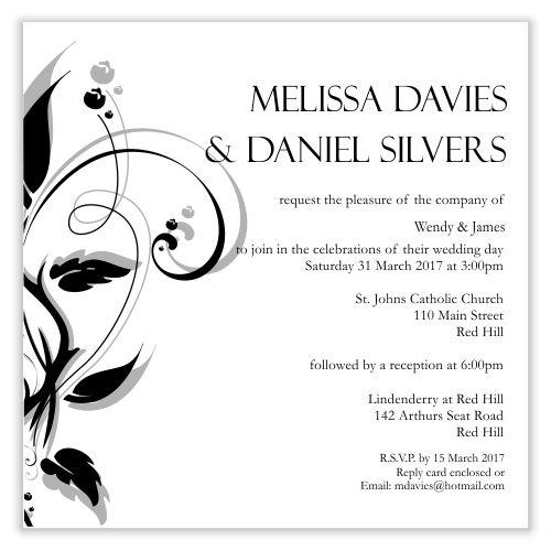 Modern Classic Wedding Invitation ~ Print Ready PDF File