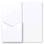 V-Cut Pocket Invitation Curious Ice Gold DL 20Pk