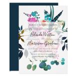 Boho Peonies Floral Wedding Invitation