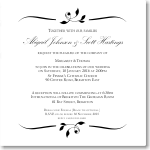 Calista Wedding Invitation 10Pk inc envelopes