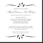 Calista Wedding Invitation 10Pk inc envelopes