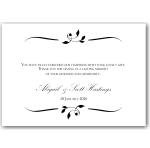 Calista Wedding Thank You Card 10Pk inc envelopes