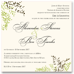 Delicate Autumn Leaves Wedding Invitation 10Pk inc envelopes