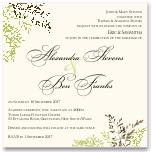 Delicate Autumn Leaves Wedding Invitation 10Pk inc envelopes