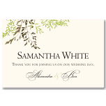 Delicate Autumn Leaves Wedding Place Card 10Pk