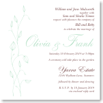 Delicate Buds Wedding Invitation 10Pk inc envelopes