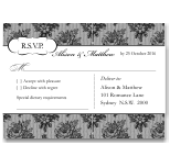 French Classic Wedding RSVP Postcard 10Pk