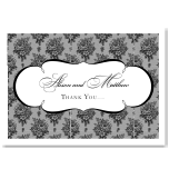 French Classic Wedding Thank You Card 10Pk inc envelopes