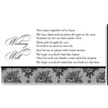 French Classic Wedding Wishing Well Card 10Pk