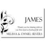 Modern Classic Black Wedding Place Card 10Pk