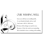 Modern Classic Black Wedding Wishing Well Card 10Pk