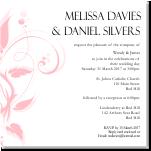 Modern Classic Pink Wedding Invitation 10Pk inc envelopes