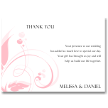 Modern Classic Pink Wedding Thank You Card 10Pk inc envelopes