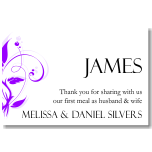 Modern Classic Purple Wedding Place Card 10Pk