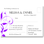 Modern Classic Purple Wedding RSVP Postcard 10Pk