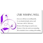 Modern Classic Purple Wedding Wishing Well Card 10Pk