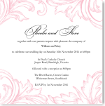 Damask Pink Wedding Invitation 10Pk inc envelopes