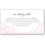 Damask Pink Wedding Wishing Well Card 10Pk