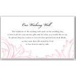 Damask Pink Wedding Wishing Well Card 10Pk