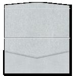 DL Pouch DIY Invitation Stardream Silver 20Pk