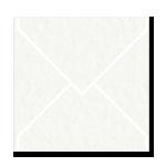 Matte Env Sq130 Via White 20Pk