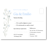 Wildflowers Blue Wedding RSVP Postcard 10Pk