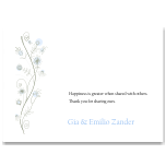 Wildflowers Blue Wedding Thank You Card 10Pk inc envelopes