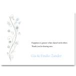 Wildflowers Blue Wedding Thank You Card 10Pk inc envelopes