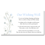 Wildflowers Blue Wedding Wishing Well Card 10Pk