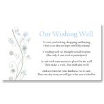 Wildflowers Blue Wedding Wishing Well Card 10Pk