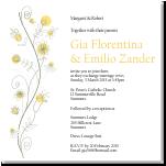 Wildflowers Gold Wedding Invitation 10Pk inc envelopes