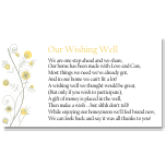Wildflowers Gold Wedding Wishing Well Card 10Pk