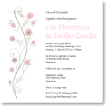 Wildflowers Pink Wedding Invitation 10Pk inc envelopes