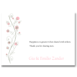 Wildflowers Pink Wedding Thank You Card 10Pk inc envelopes