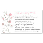 Wildflowers Pink Wedding Wishing Well Card 10Pk